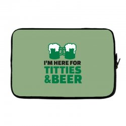 st. patrick's day titties and beer Laptop sleeve | Artistshot