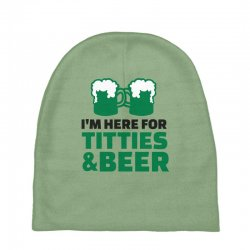 st. patrick's day titties and beer Baby Beanies | Artistshot