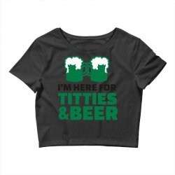 st. patrick's day titties and beer Crop Top | Artistshot