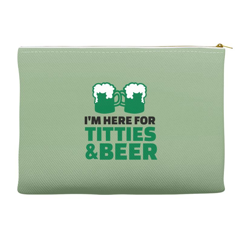 St. Patrick's Day Titties And Beer Accessory Pouches | Artistshot