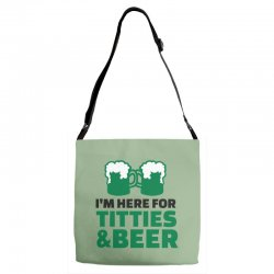st. patrick's day titties and beer Adjustable Strap Totes | Artistshot