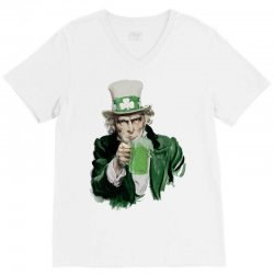 st patricks day  uncle sam V-Neck Tee | Artistshot