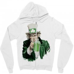 st patricks day  uncle sam Zipper Hoodie | Artistshot