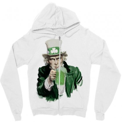 St Patricks Day  Uncle Sam Zipper Hoodie Designed By Sbm052017