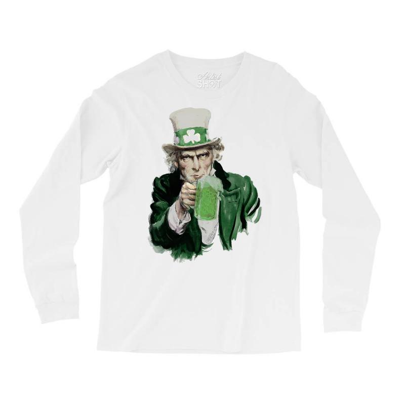 St Patricks Day  Uncle Sam Long Sleeve Shirts | Artistshot