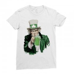 st patricks day  uncle sam Ladies Fitted T-Shirt | Artistshot