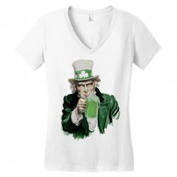 st patricks day  uncle sam Women's V-Neck T-Shirt | Artistshot