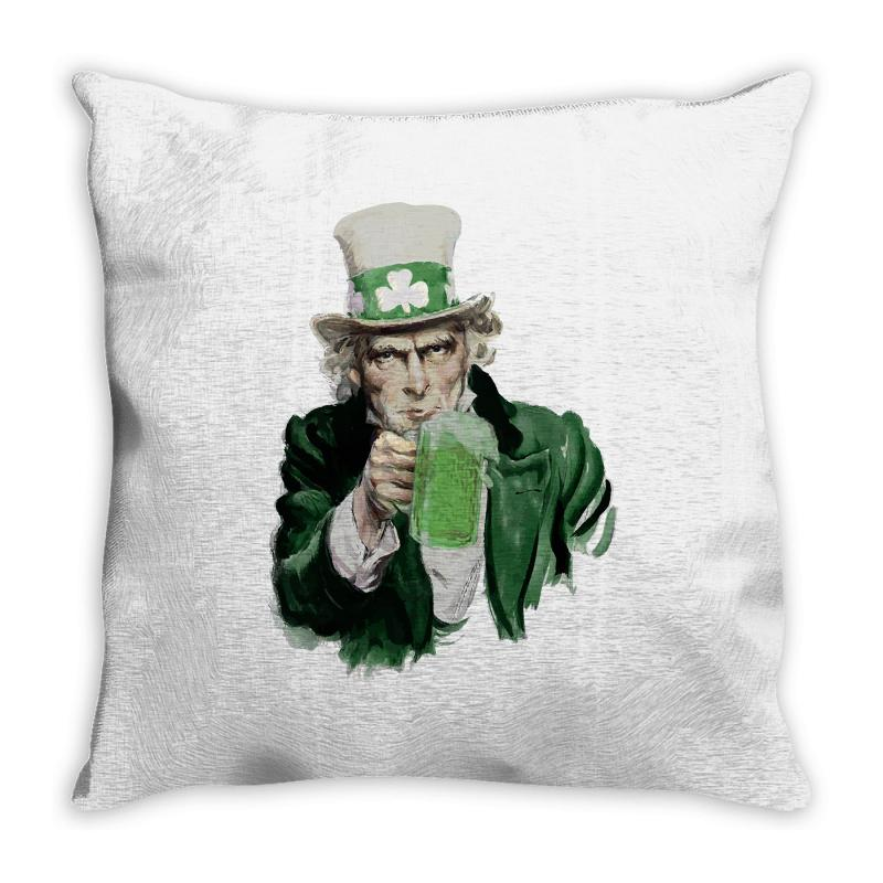 St Patricks Day  Uncle Sam Throw Pillow | Artistshot