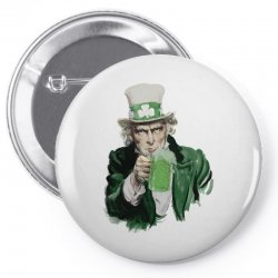 st patricks day  uncle sam Pin-back button | Artistshot