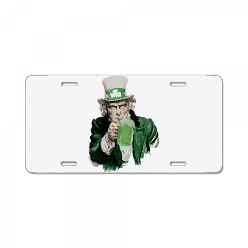 St Patricks Day  Uncle Sam License Plate | Artistshot