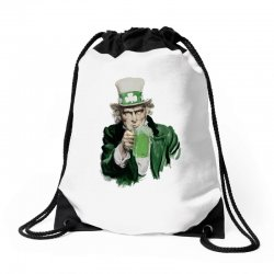 st patricks day  uncle sam Drawstring Bags | Artistshot