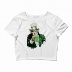 st patricks day  uncle sam Crop Top | Artistshot