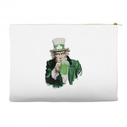st patricks day  uncle sam Accessory Pouches | Artistshot