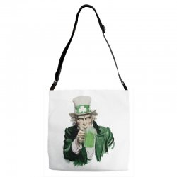 st patricks day  uncle sam Adjustable Strap Totes | Artistshot