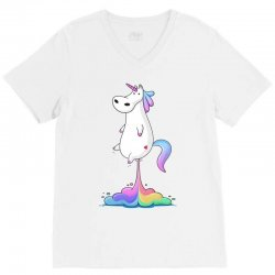 unicorn fart V-Neck Tee | Artistshot