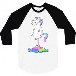 unicorn fart 3/4 Sleeve Shirt | Artistshot