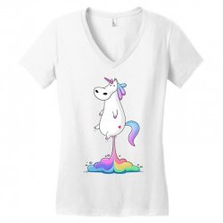 unicorn fart Women's V-Neck T-Shirt | Artistshot