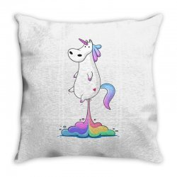 unicorn fart Throw Pillow | Artistshot