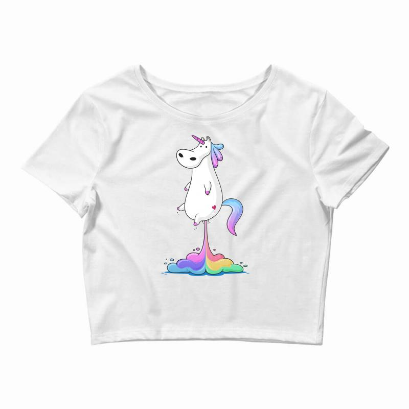 Unicorn Fart Crop Top | Artistshot