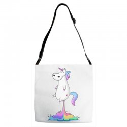 unicorn fart Adjustable Strap Totes | Artistshot