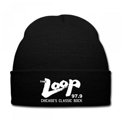 The Loop Chicago's Classic Rock 97.9 Fm Radio Station Knit Cap Designed By Killakam