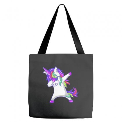 Dabbing Unicorn Tote Bags Designed By Oz
