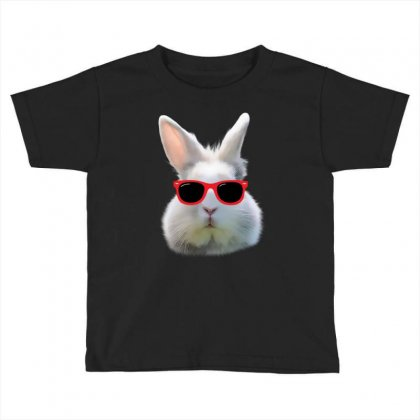Easter Bunny Face Too Hip To Hop Toddler T-shirt Designed By Love Shiga