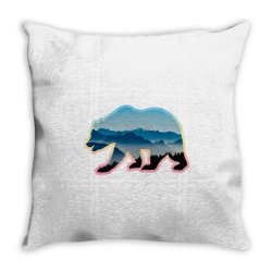 wild bear Throw Pillow | Artistshot