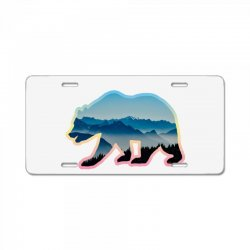 wild bear License Plate | Artistshot