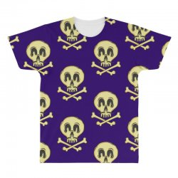 funny skull mustache All Over Men's T-shirt | Artistshot