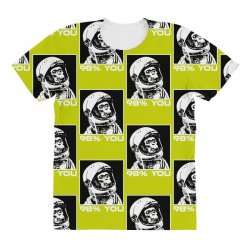funny monkey astronomy All Over Women's T-shirt | Artistshot