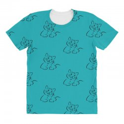 the cat simple All Over Women's T-shirt | Artistshot