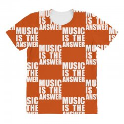 music is the answer printed All Over Women's T-shirt | Artistshot