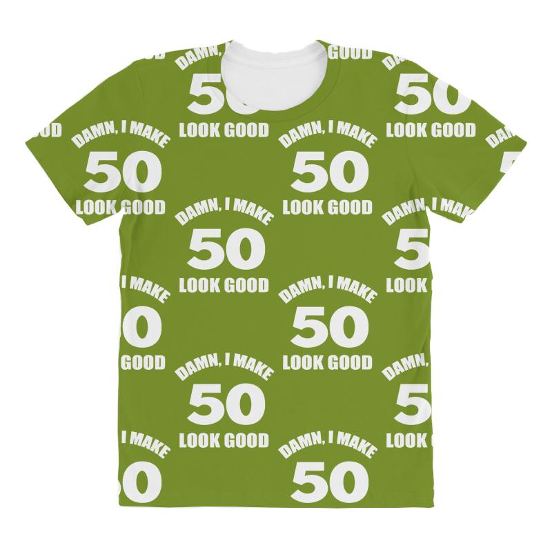 50th Birthday Shirt All Over Womens T
