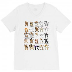 dabbing animals V-Neck Tee | Artistshot