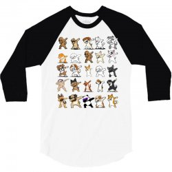 dabbing animals 3/4 Sleeve Shirt | Artistshot