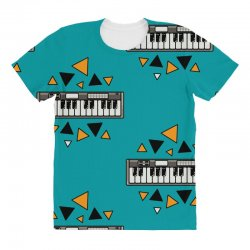 music,keyboard,electronic,piano,triangle,reflections,cute,vectorart, All Over Women's T-shirt | Artistshot