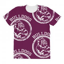 Bulldog Sports Team All Over Women's T-shirt | Artistshot