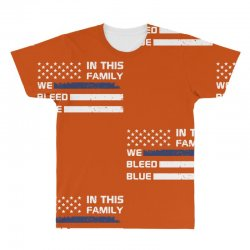 in this family we bleed blue funny All Over Men's T-shirt | Artistshot