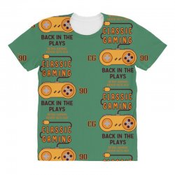 Classic Gaming - Back In The Plays All Over Women's T-shirt | Artistshot