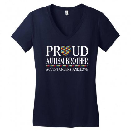 Proud Autism Brother Women's V-neck T-shirt Designed By Dang Minh Hai