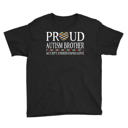 Proud Autism Brother Youth Tee Designed By Dang Minh Hai