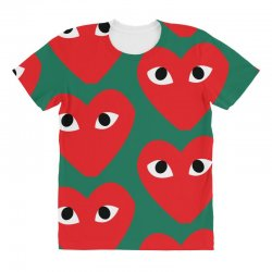 Comme Des Garcons Play All Over Women's T-shirt | Artistshot