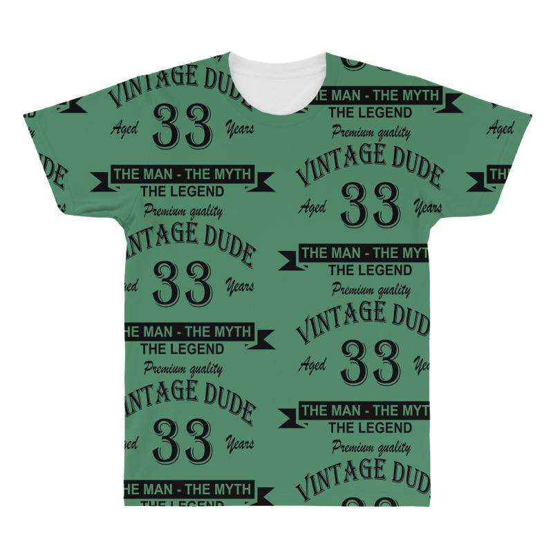 Aged 33 Years All Over Men's T-shirt | Artistshot