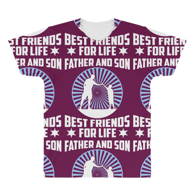 ee9342591 Father and son Best friends for life - Fathers day Gift All Over Men's T- shirt
