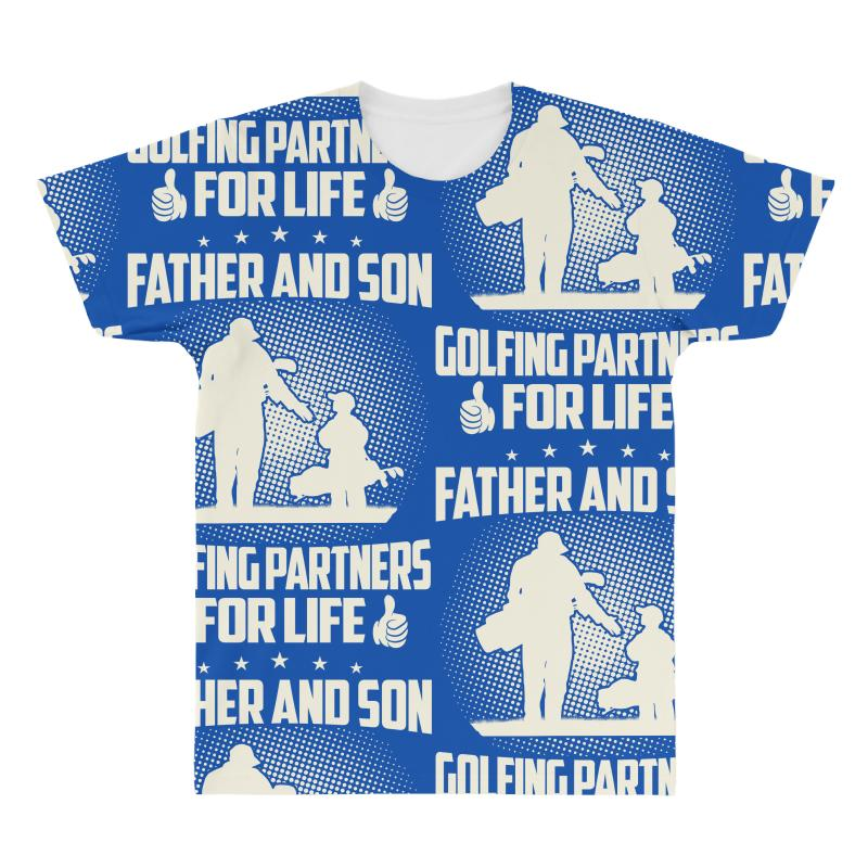 a9436b691 Custom Father And Son Golfing Partners - Dad Shirts All Over Men's T-shirt  By Davidph - Artistshot