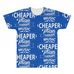 Music Is Cheaper Than Therapy All Over Men's T-shirt | Artistshot