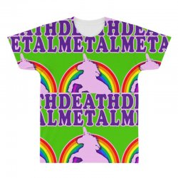 funny death metal unicorn rainbow All Over Men's T-shirt | Artistshot
