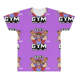 funny gym sloth the goonies fitness t shirt vectorized All Over Men's T-shirt | Artistshot