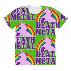 funny death metal unicorn rainbow All Over Women's T-shirt | Artistshot
